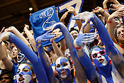 Cameron Crazies give it up for Duke Senior Mike Zoubek during the pre-game senior night presentation. Duke dominated UNC 82-50 in the last regular season game at Cameron Indoor Stadium in Durham, N.C., Sat., March 6, 2010.