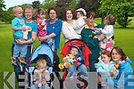 Doing their part for Enable Ireland at the charity toddle in the Listowel town park on Thursday were Rian and Sharon Quinn, Eileen, Tara and Kelly Enright, Elaine and Conor Scarlett, Sophie Slemon, Nora and Emily Murphy and Doreen and Niamh Buckley, all members of the Knockanure Parent and Toddler group.   Copyright Kerry's Eye 2008