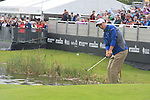Defending Champion Ross Fisher (ENG) chips onto the 18th green during Day 3 Saturday of The Irish Open presented by Discover Ireland at Killarney Golf & Fishing Club on 30th July 2011 (Photo Fran Caffrey/www.golffile.ie)