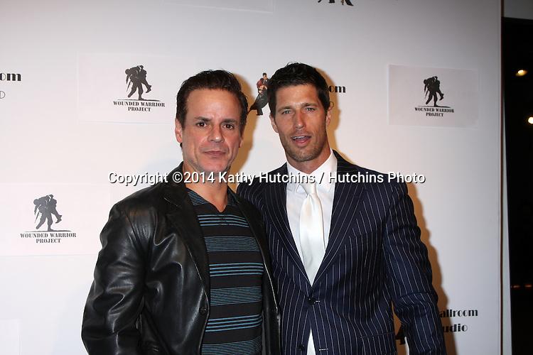 LOS ANGELES - MAR 31:  Christian LeBlanc, Rib Hillis at the LA Ballroom Studio Grand Opening at LA Dance Studio on March 31, 2014 in Sherman Oaks, CA