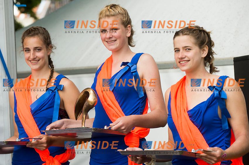 Podium - LEN Trophy<br /> Hoorn, Netherlands <br /> LEN 2016 European Open Water Swimming Championships <br /> Open Water Swimming<br /> Men's 5km<br /> Day 02 12-07-2016<br /> Photo Giorgio Perottino/Deepbluemedia/Insidefoto