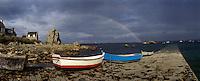 Europe/France/Bretagne/22/Cotes d'Armor/Côtes d'Armor/Env de Tréguier/Pors-Hirs : La côte sauvage sur le circuit des Ajoncs