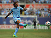 Andrea Pirlo #21 of NYC Football Club kicks a ball downfield during a Major League Soccer match against the New York Red Bulls at Yankee Stadium on Sunday, July 3, 2016. NYCFC won by a score of 2-0.
