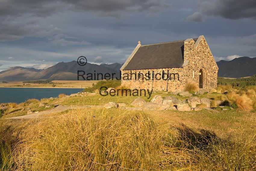 New Zealand, South Island, Canterbury region: Church of the Good Shepherd at Lake Tekapo | Neuseeland, Suedinsel, Region Canterbury: Church of the Good Shepherd am Lake Tekapo