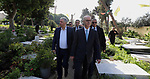 Palestinian Prime Minister Rami Hamdallah, puts a wreath on the Palestinian Martyrs' Memorial in Beirut, Lebanon, 21 January 2019. Photo by Prime Minister Office