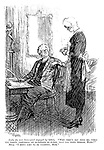"""Lady (to new housemaid engaged by letter). """"Why didn't you tell me, when you wrote answering my questions so fully, that you were Scotch, Mary?"""" Mary """"I didna like to be boasting, mem."""""""