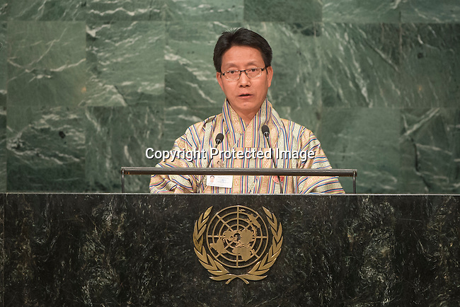 Bhutan<br /> H.E. Mr. Lyonpo Damcho Dorji<br /> Minister for Foreign Affairs<br /> <br /> <br /> General Assembly Seventy-first session 20th plenary meeting<br /> <br /> General Debate