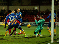 Fleetwood Town's Paddy Madden scores his side's equalising goal to make the score 1-1<br /> <br /> Photographer Alex Dodd/CameraSport<br /> <br /> The EFL Sky Bet League One - Fleetwood Town v Shrewsbury Town - Tuesday 13th February 2018 - Highbury Stadium - Fleetwood<br /> <br /> World Copyright &copy; 2018 CameraSport. All rights reserved. 43 Linden Ave. Countesthorpe. Leicester. England. LE8 5PG - Tel: +44 (0) 116 277 4147 - admin@camerasport.com - www.camerasport.com