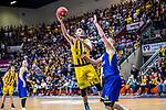 Adam WALESKOWSKI (#19 MHP Riesen Ludwigsburg) \Rasid MAHALBASIC (#24 EWE Baskets Oldenburg) \ beim Spiel, MHP RIESEN Ludwigsburg - EWE Baskets Oldenburg.<br /> <br /> Foto &copy; PIX-Sportfotos *** Foto ist honorarpflichtig! *** Auf Anfrage in hoeherer Qualitaet/Aufloesung. Belegexemplar erbeten. Veroeffentlichung ausschliesslich fuer journalistisch-publizistische Zwecke. For editorial use only.