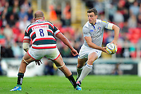 George Ford of Bath Rugby looks to pass the ball. Aviva Premiership match, between Leicester Tigers and Bath Rugby on September 25, 2016 at Welford Road in Leicester, England. Photo by: Patrick Khachfe / Onside Images