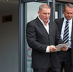 Rangers manager Ally McCoist emerges from Ibrox with a statement thanking the SFL for accepting the Ibrox Club into associate membership and vowing to get back to playing football for the fans of the club
