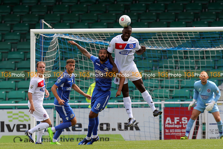 Bondz N'Gala of Dagenham during Eastleigh vs Dagenham & Redbridge, Vanarama National League Football at the Silverlake Stadium on 12th August 2017