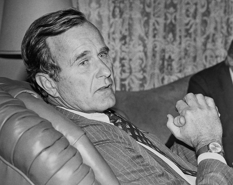 President George H. W. Bush. (Photo by Pen Wilson/CQ Roll Call via Getty Images)