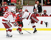 Louis Leblanc (Harvard - 20), Max Mobley (St. Lawrence - 12), Danny Biega (Harvard - 9) - The St. Lawrence University Saints defeated the Harvard University Crimson 3-2 on Friday, November 20, 2009, at the Bright Hockey Center in Cambridge, Massachusetts.