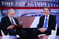National Harbor, MD - February 22, 2018: White House Counsel Donald McGahn participates in a discussion, moderated by Dr. Larry Arnn, during the Conservative Political Action Conference (CPAC) at the Gaylord National Hotel in National Harbor, MD, February 22, 2018  (Photo by Don Baxter/Media Images International)