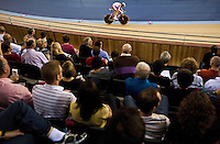 19 FEB 2012 - LONDON, GBR - Poland's Malgorzata Wojtyra (POL) races for the finish line during the Women's Omnium Time Trial at the UCI Track Cycling World Cup and London Prepares test event for the 2012 Olympic Games  in the Olympic Park Velodrome in Stratford, London, Great Britain (PHOTO (C) 2012 NIGEL FARROW)