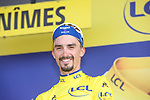 Race leader Julian Alaphilippe (FRA) Deceuninck-Quick Step retains the Yellow Jersey at the end of Stage 16 of the 2019 Tour de France running 177km from Nimes to Nimes, France. 23rd July 2019.<br /> Picture: Colin Flockton | Cyclefile<br /> All photos usage must carry mandatory copyright credit (© Cyclefile | Colin Flockton)