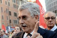 Roma, 11 Ottobre 2107<br /> Massimo D'Alema<br /> Legge elettorale, Sinistra Italiana, MDP, e Possibile in Piazza contro la fiducia.