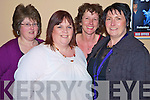 Pictured at the fundraising night in aid of Kerry Cancer Support and Marymount Hospice, in the Gleneagle on Monday night were Mary O'Connor, Claire Fleming, Bernie Sugrue and Marion Sugrue, Knocknagree. ..