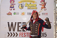 SAO PAULO, SP - 12.07.2015 - ANIME FRIENDS - Movimentação do público no Anime Friends 2015 neste domingo (12), no Capo de Marte, zona norte da capital paulista. Este é o maior evento de cultura pop japonesa em toda a america do sul, apresentando games, cosplays e atrações nacionais e internacionais para o público até o dia 19 de julho. <br /> <br /> (Foto: Fabricio Bomjardim / Brazil Photo Press)