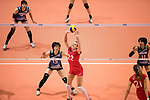 Setter Tatiana Romanova of Russia (C) pass during the FIVB Volleyball World Grand Prix match between Japan vs Russia on 23 July 2017 in Hong Kong, China. Photo by Marcio Rodrigo Machado / Power Sport Images