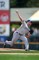 Durham Bulls relief pitcher Neil Wagner (32) during a game against the Rochester Red Wings on July 20, 2016 at Frontier Field in Rochester, New York.  Rochester defeated Durham 6-2.  (Mike Janes/Four Seam Images)