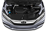 Car Stock 2020 Honda Odyssey EX-L 5 Door Minivan Engine  high angle detail view