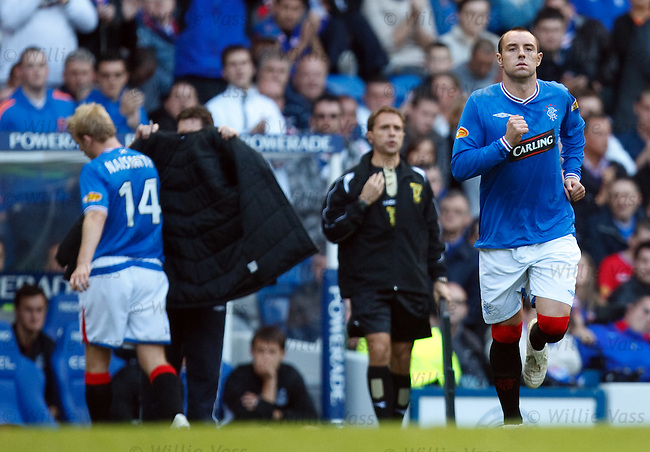 Kris Boyd comes on for Steven Naismith