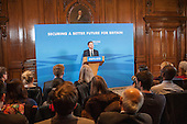 Conservative Party Chair Grant Shapps MP gives an election press conference, Westminster, London.