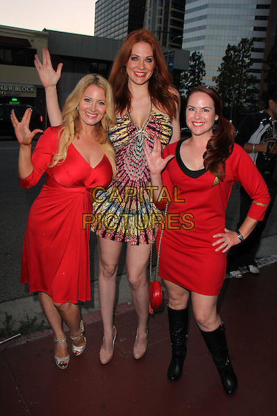 WEST HOLLYWOOD, CA - AUGUST 1: Sara Barrett, Maitland Ward, Lisa Cash at the Star Trek Renegades Premiere at the Crest Theater in Westwood, California on August 1, 2015. <br /> CAP/MPI/DC/DE<br /> &copy;DE/DC/MPI/Capital Pictures