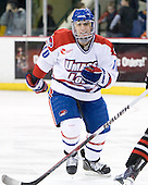 David Vallorani (Lowell - 10) - The visiting Northeastern University Huskies defeated the University of Massachusetts-Lowell River Hawks 3-2 with 14 seconds remaining in overtime on Friday, February 11, 2011, at Tsongas Arena in Lowelll, Massachusetts.
