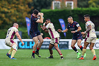 Ross Neal of London Scottish in action during the Greene King IPA Championship match between London Scottish Football Club and Doncaster Knights at Richmond Athletic Ground, Richmond, United Kingdom on 30 September 2017. Photo by Jason Brown / PRiME Media Images.