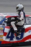 May 4, 2007; Richmond, VA, USA; Nascar Nextel Cup Series driver Mike Bliss (49) during qualifying for the Jim Stewart 400 at Richmond International Raceway. Mandatory Credit: Mark J. Rebilas