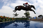 GUADALAJARA, MEXICO - OCTOBER 27:  Antonio Maurer of Mexico competes during the Equestrian Show Jumping Competition on Day Thirteen of the XVI Pan American Games on October 27, 2011 in Guadalajara, Mexico.  (Photo by Donald Miralle for Mexsport) *** Local Caption ***
