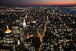 Southward view of NYC from the Empire State Building