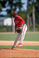 Philadelphia Phillies pitcher DJ Jefferson (70) during an Instructional League game against the Detroit Tigers on September 19, 2019 at Tigertown in Lakeland, Florida.  (Mike Janes/Four Seam Images)