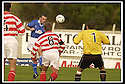 5/10/02       Copyright Pic : James Stewart                     .File Name : stewart-hamilton v stranraer 05.IAN HARTY RISES AT THE BACK POST TOI HEAD HOME THE FIFTH FOR STRANRAER....James Stewart Photo Agency, 19 Carronlea Drive, Falkirk. FK2 8DN      Vat Reg No. 607 6932 25.Office : +44 (0)1324 570906     .Mobile : + 44 (0)7721 416997.Fax     :  +44 (0)1324 570906.E-mail : jim@jspa.co.uk.If you require further information then contact Jim Stewart on any of the numbers above.........