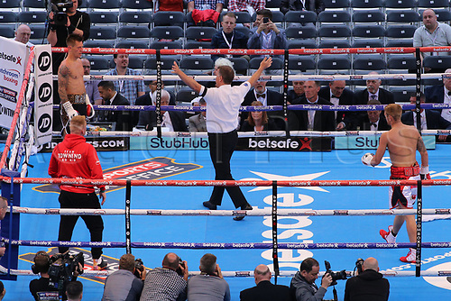 May 27th 2017, Bramall Lane, Sheffield, England;  IBF welterweight world title boxing Kell Brook versus fighter Errol Spence Jr; Undercard Fight Between Andy Townend versus  Jon Kays