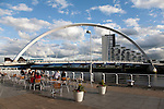 Clyde Arc Bridge on the River Clyde in Glasgow, Scotland