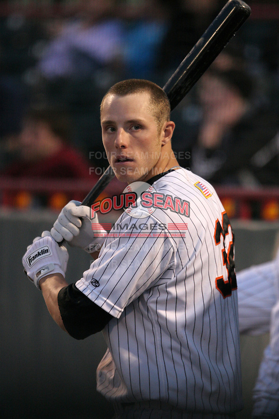 Erie Seawolves Kody Kirkland during an Eastern League game at Jerry Uht Park on April 14, 2006 in Erie, Pennsylvania.  (Mike Janes/Four Seam Images)