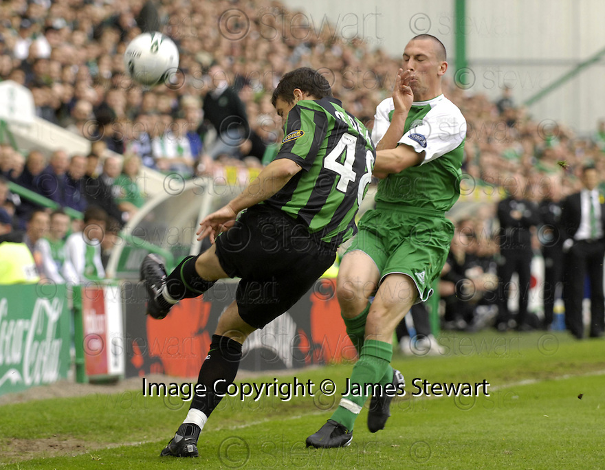 20/05/2007       Copyright Pic: James Stewart.File Name : sct_jspa02_hibernian_v_celtic.DARREN O'DEA CLEARS FROM SCOTT BROWN.James Stewart Photo Agency 19 Carronlea Drive, Falkirk. FK2 8DN      Vat Reg No. 607 6932 25.Office     : +44 (0)1324 570906     .Mobile   : +44 (0)7721 416997.Fax         : +44 (0)1324 570906.E-mail  :  jim@jspa.co.uk.If you require further information then contact Jim Stewart on any of the numbers above.........