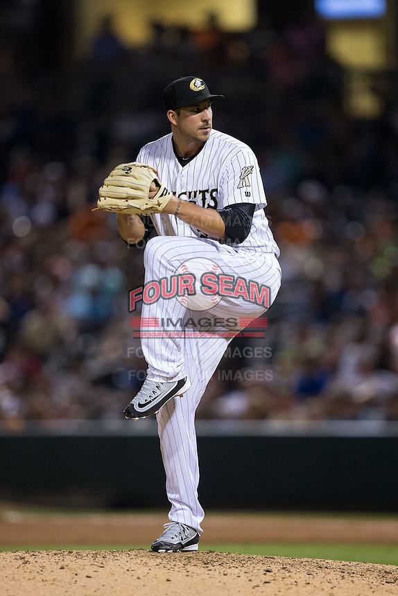 Charlotte Knights relief pitcher Phillippe Aumont (51) in action against the Lehigh Valley Iron Pigs at BB&T BallPark on June 3, 2016 in Charlotte, North Carolina.  The Iron Pigs defeated the Knights 6-4.  (Brian Westerholt/Four Seam Images)