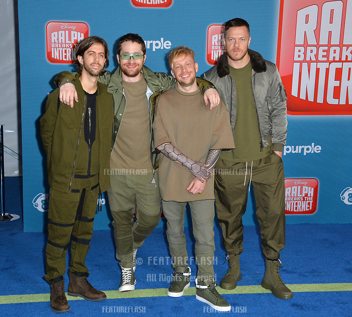 LOS ANGELES, CA. November 05, 2018: Imagine Dragons at the world premiere of &quot;Ralph Breaks The Internet&quot; at the El Capitan Theatre.<br /> Picture: Paul Smith/Featureflash