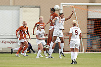 SAN ANTONIO, TX - NOVEMBER 3, 2010: The University of Oklahoma Sooners vs. the University of Texas Longhorns in the Big 12 Women's Soccer Championship Quarterfinals at the Blossom Soccer Stadium. (Photo by Jeff Huehn)