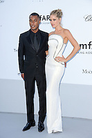 "Doutzen Kroes and guest attending the ""On the Road"" Premiere during the 65th annual International Cannes Film Festival in Cannes, France, 23rd May 2012. Doutzen Kroes wore a Versace dress. ..Credit: Timm/face to face, / Mediapunchinc"
