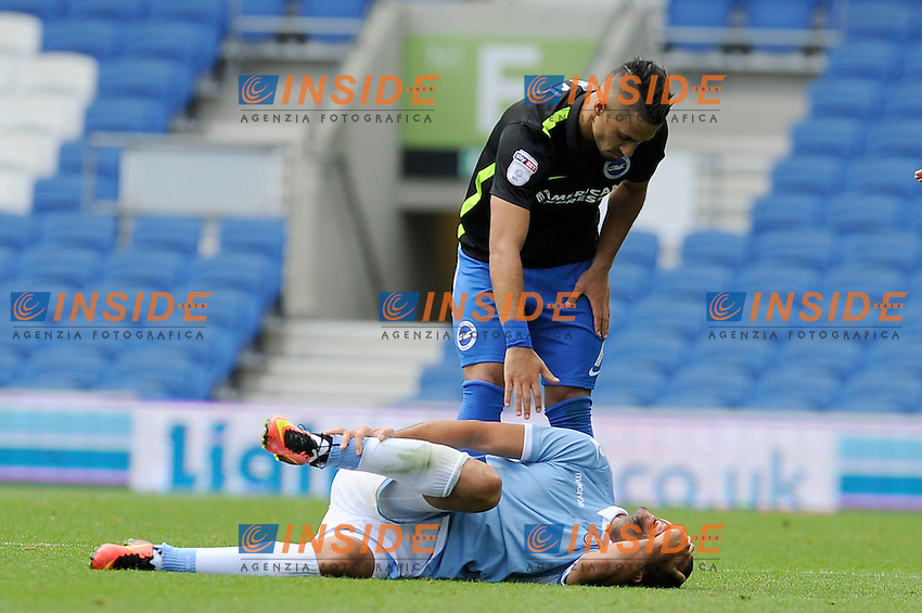 Filip Djordjevic si infortuna. Injured <br /> 31-07-2016 Brighton, <br /> Amichevole Brighton Vs Lazio<br /> SS Lazio friendly match <br /> @ Marco Rosi / Fotonotizia / Insidefoto