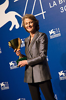 Charlotte Rampling at the Awards Ceremony at the 74th Venice Film Festival in Italy on 9 September 2017.<br /> <br /> Photo: Kristina Afanasyeva/Featureflash/SilverHub<br /> 0208 004 5359<br /> sales@silverhubmedia.com