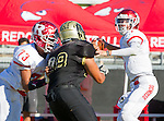Palos Verdes, CA 10/21/16 - \r73\, Alex Bobb (Peninsula #88) and Jack Alexander (Redondo Union #7) in action during the CIF Southern Section Bay League Redondo Union - Palos Verdes Peninsula game at Peninsula High School.