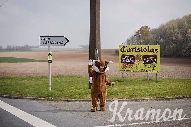 drive-by wildlife cheering the riders on<br /> <br /> 117th Paris-Roubaix 2019 (1.UWT)<br /> One day race from Compiègne to Roubaix (FRA/257km)<br /> <br /> ©kramon