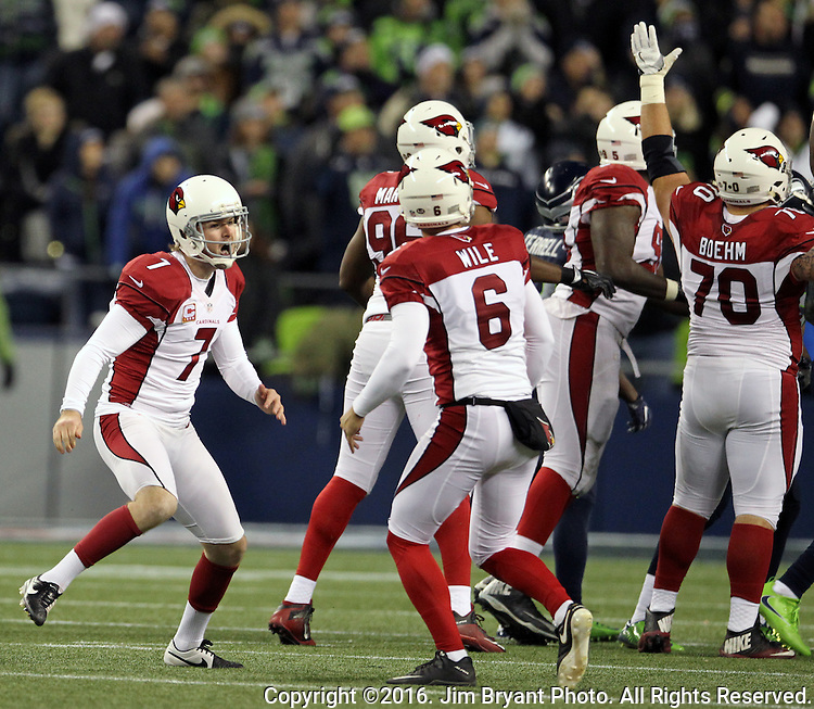at CenturyLink Field in Seattle, Washington on December 24, 2016.  Arizona Cardinals beat Seattle Seahawks 34-31.  ©2016. Jim Bryant Photo. All Rights Reserved.
